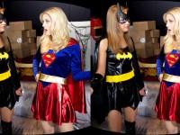 Superhero Battle - Two Sexy Girls Cosplay Hardcore WANKZVR April Brookes Charlotte Stokely VR porn video vrporn.com