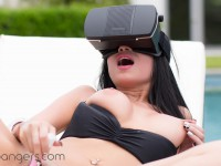 A Day By The Pool - Hottie Gets Off With Pink Vibrator in VR VRBangers Raven Bay vr porn video vrporn.com virtual reality