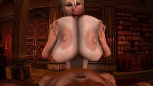 Titfuck With Trishka - Titty Fuck These Huge CGI Tits and Cum sfmvr.tumblr CGIGirl VR Porn video vrporn.com