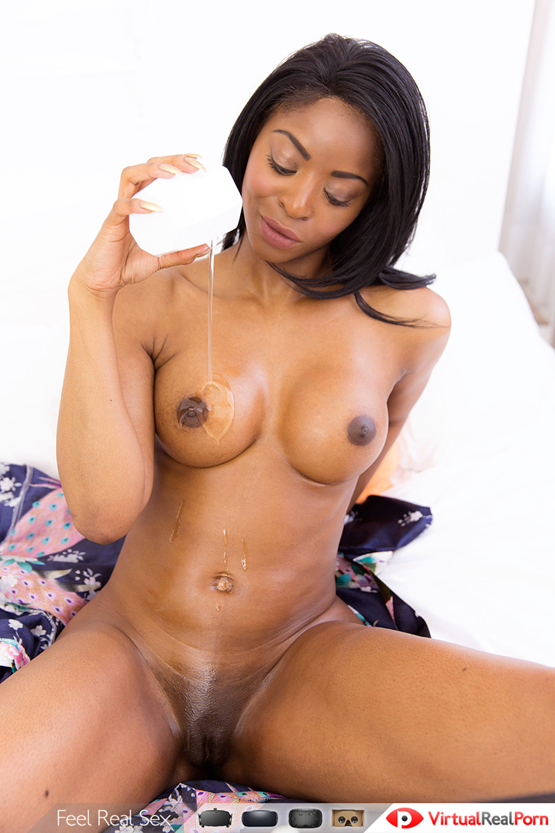 ebony webcam – solo black girl playing in shower - vr porn video