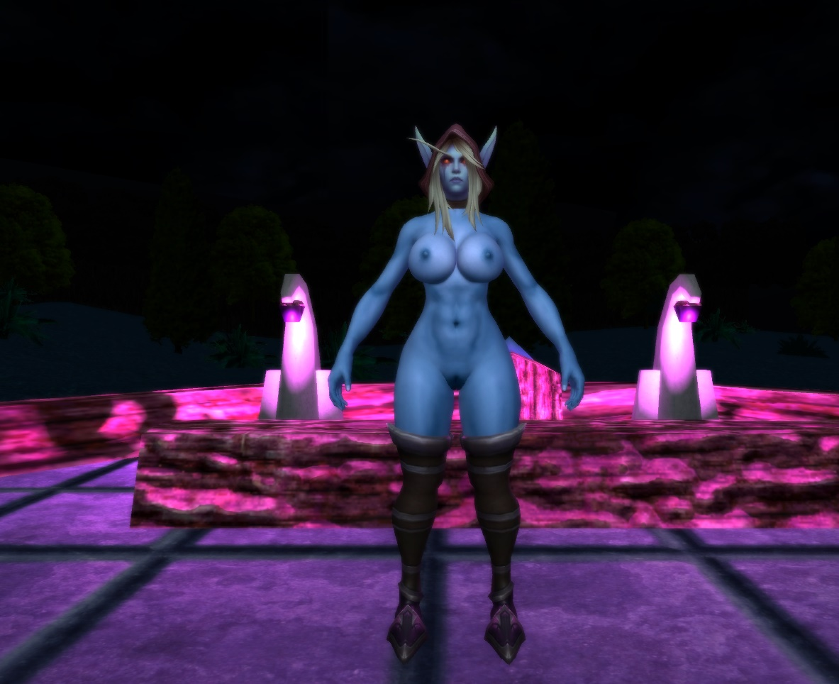 Female warcraft world nude night elf of