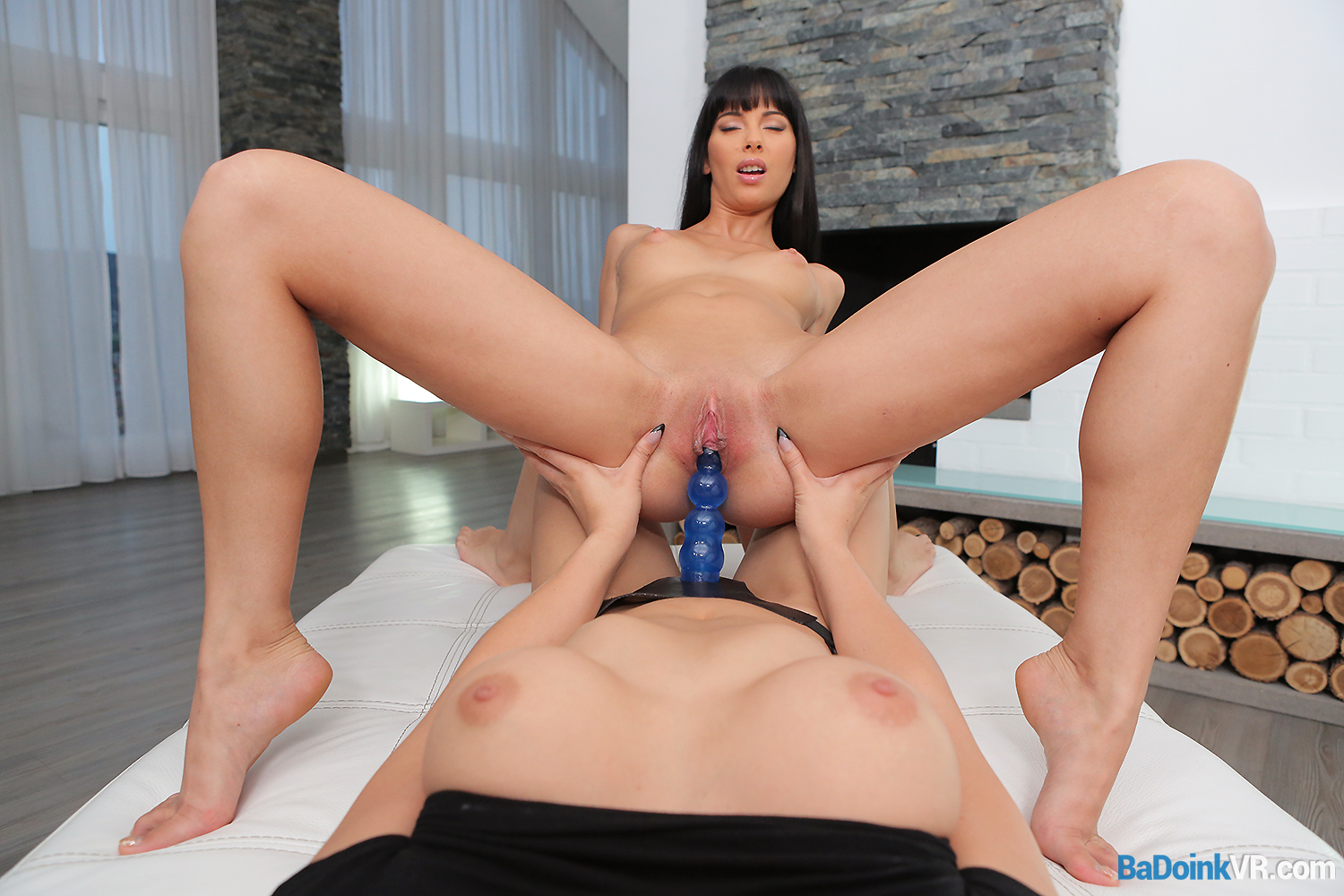 with a lesbian having sex dildo Hot