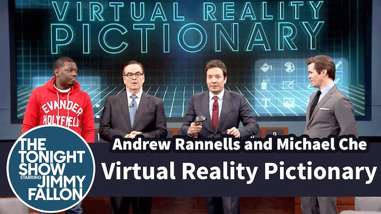 Jimmy Fallon Plays Virtual Reality Pictionary with HTC Vive and Tilt Brush at