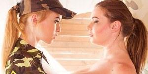 Army Girls - Hardcore Threesome (PSVR Compatible Porn) VirtualRealPorn Tasha Holz Misha Cross VR porn video vrporn.com