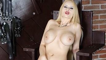 Busty Blonde Angel - Euro Chick Hardcore Masturbation