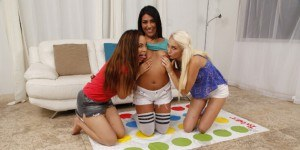Sorority Game Night - Cum Exploding VR Lesbian Threesome VR3000 Lexy Anya VR porn video vrporn.com