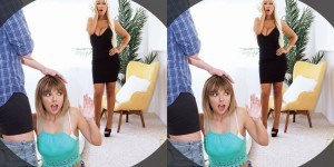 Bang My Hot Stepmom - Watch This Threesome Like You're There VRBangers Jasmine Jae vr porn video vrporn.com virtual reality