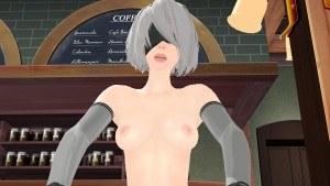 Nier Automata - Restaurant Cowgirl Lewd FRAGGY hentaigirl vr porn video vrporn.com virtual reality