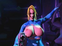 Samus Aran Holds Her Captive At Gunpoint