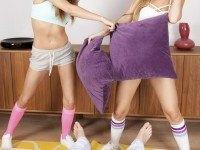 Pillow Fight Turns To Group Sex RealJamVR Alexis Crystal Sarah Kay vr porn video vrporn.com virtual reality