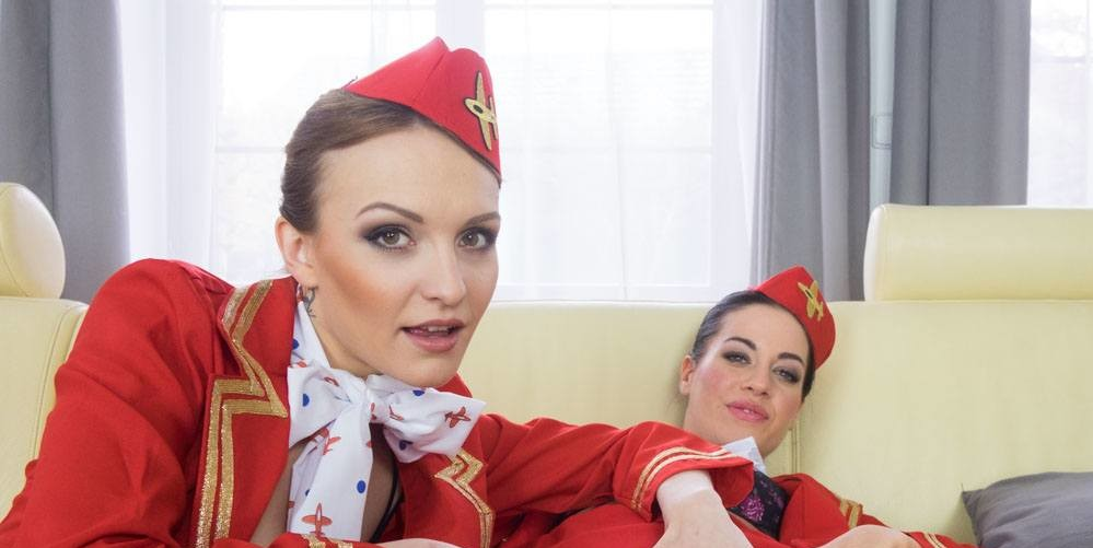 Stewardesses porn airline