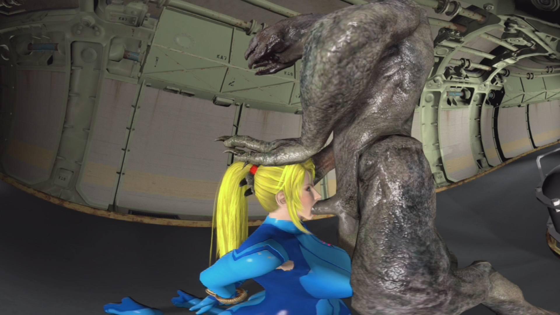 alien cartoon porn videos - Samus throat fucked by an alien CGI Girl ViceSFM vr porn video vrporn.com  virtual ...