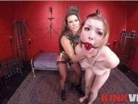 Ariel X and Ella Nova's Kinky Lesbian Sex Show kinkvr Ariel-X Ella-Nova vr porn video vrporn.com virtual reality