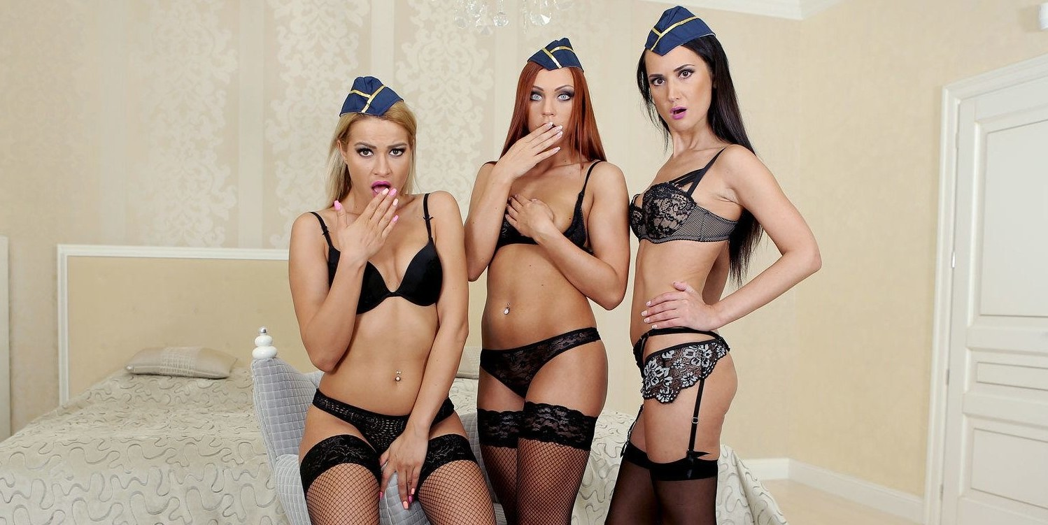 VR Porn Orgy Reviews: Slavic Flight Attendants realitylovers vr porn blog virtual reality