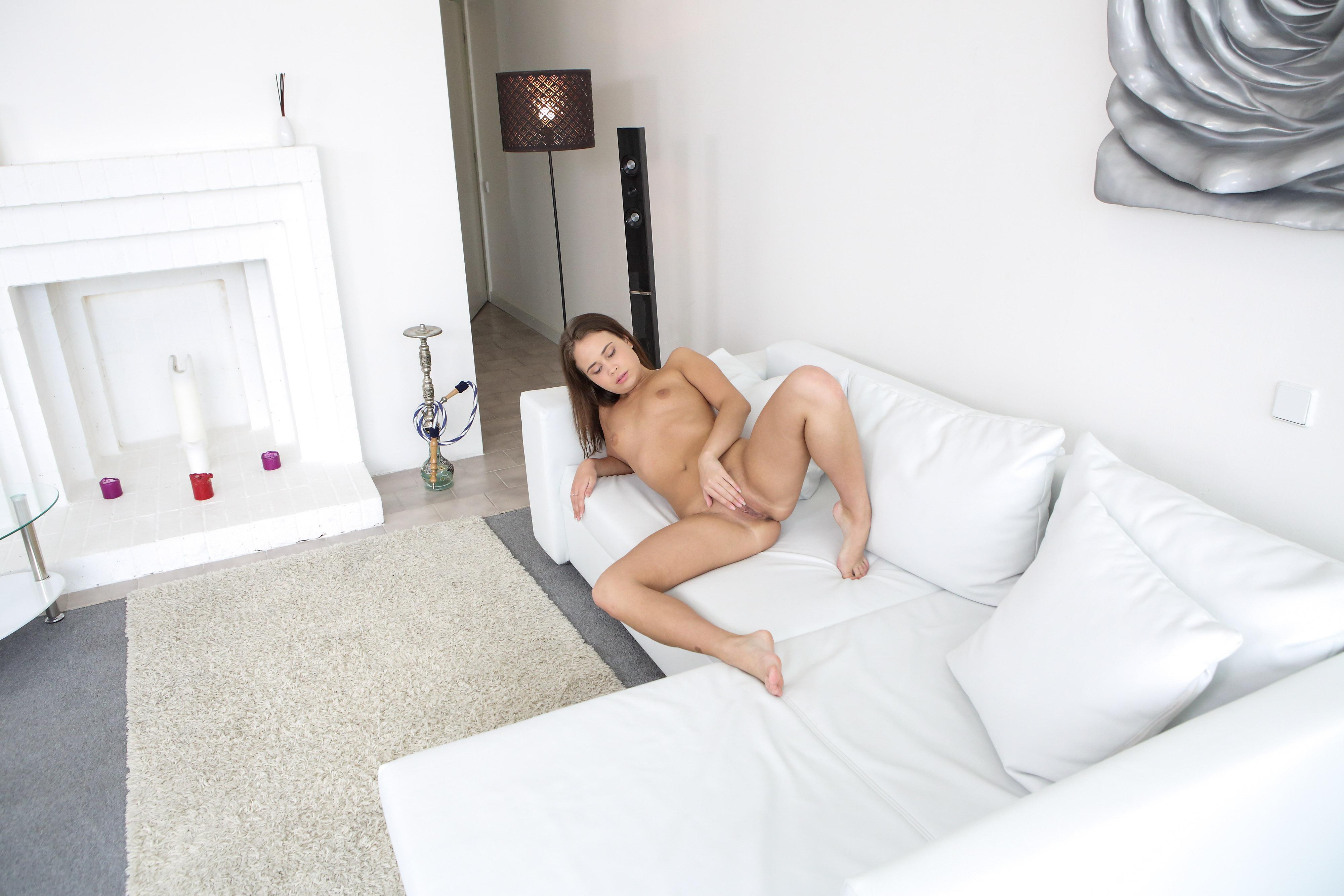 rubbing tiny tits porn