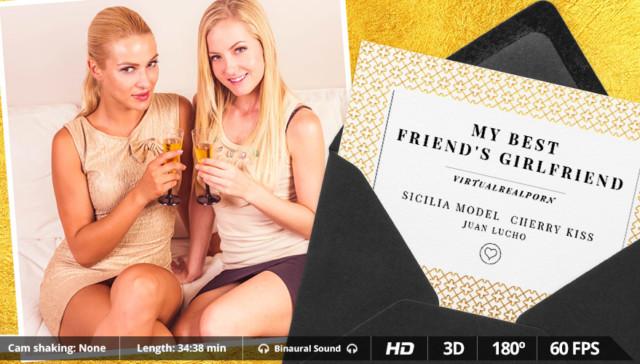 My Best Friend's Girlfriend - Lesbian Blondies Sharing Cock VirtualRealPorn Juan Lucho Cherry Kiss VR porn video vrporn.com