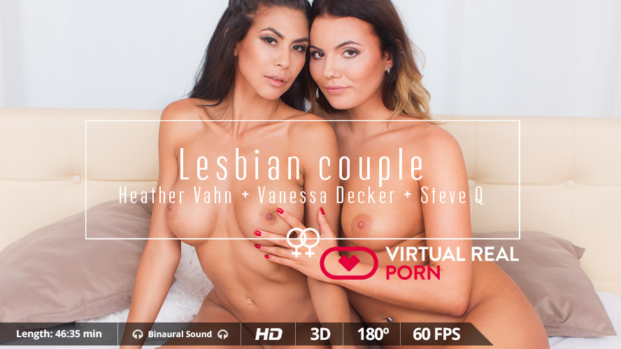 Lesbian Couple - Naughty Brunettes Heather VahnandVanessa DeckerVR