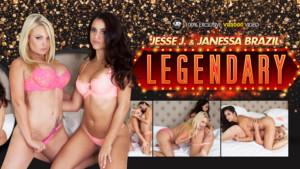 Legendary - Hot Busty Lesbians Janessa and Jesse XXX VR3000 Janessa Brazil Jesse Jane VR porn video vrporn.com