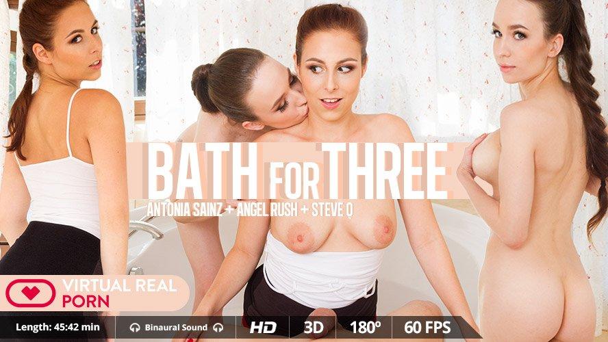Bath For Three - Hot Russian Angel Rush & Czech Antonia Sainz VR