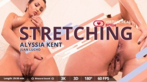 Stretching VirtualRealPorn Alyssia Kent vr porn video vrporn.com virtual reality