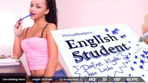 English Student - Ukrainian Anal Babe VirtualRealPorn Juan Lucho Daphne Klyde VR porn video vrporn.com