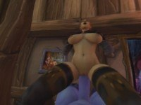 World of Warcraft Human Rides Big Draenei Cock itsMorti vr porn video vrporn.com virtual reality