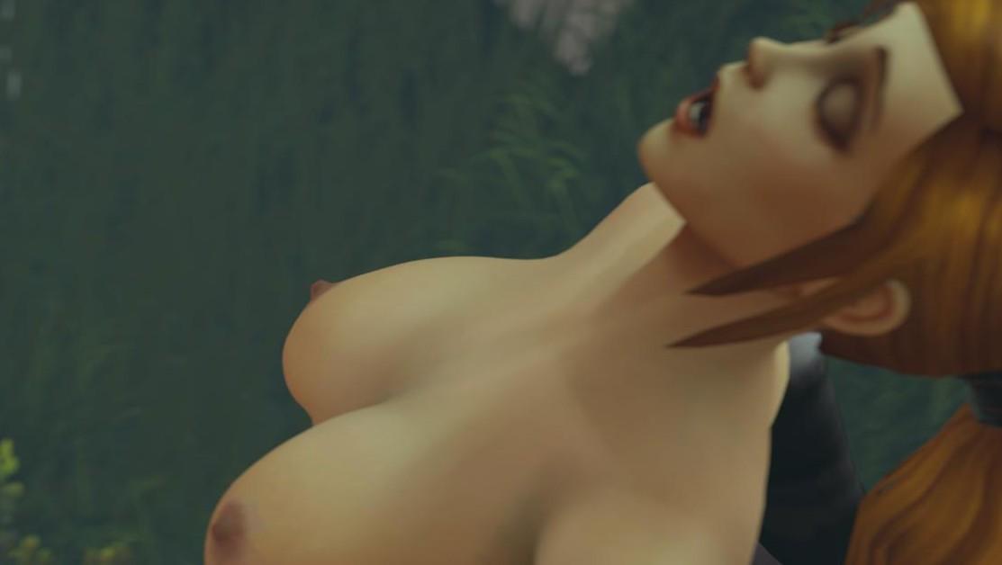 [Trans] World of Warcraft - Night Elf Priestess Blowjob