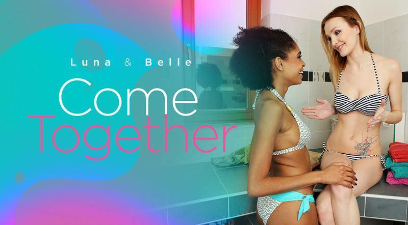 Luna And Belle Come Together - Interracial Lesbian Sex Porno