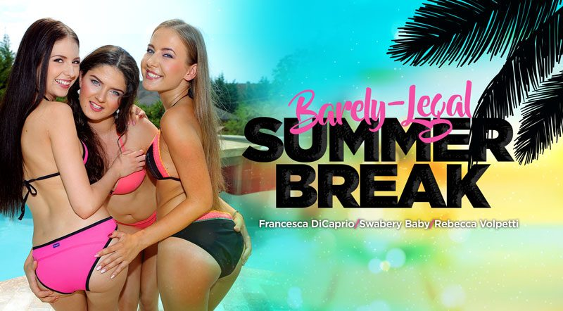 Barely-Legal Summer Break - Rebecca, Francesca & Swabery XXX