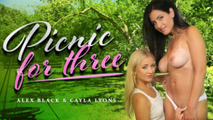 Picnic For Three - Outdoor Threesome RealityLovers Alex Black Cayla Lyons VR Porn video vrporn.com