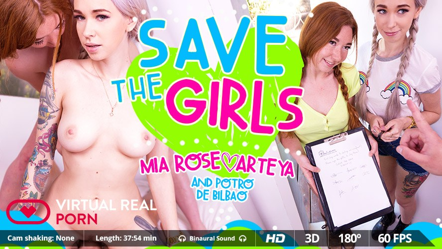 Save The Girls - Tight Naughty Lesbians Threesome