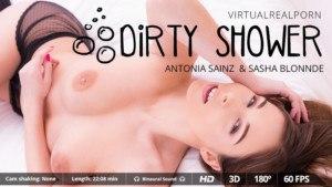 Dirty Shower VirtualRealPorn Antonia Sainz Sasha Blonnde vr porn video vrporn.com virtual reality