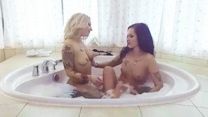 Tattoo Lesbian Action VRSexyGirlz Vanessa_Sweet Isabel_Dark vr porn video vrporn.com virtual reality