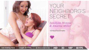 Your neighborg s secret VirtualRealTrans Amarna_Miller Sunshyne_Monroe vr porn video vrporn.com virtual reality