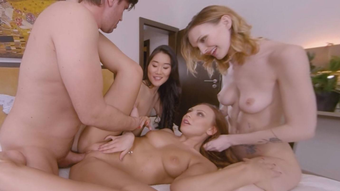 Charlie's Nympho Angels Voyeur - Ornella, Katana and Belle Foursome