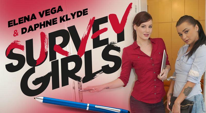 Survey Girls POV - Teen Brunette & Horny Red Head Anal FFM
