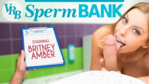 VRB Sperm Bank VR Bangers Britney Amber vr porn video vrporn.com virtual reality