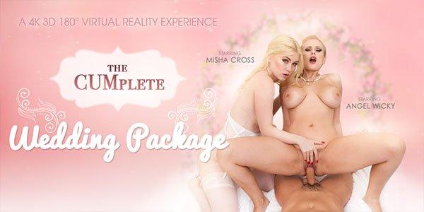 The CUMplete Wedding Package - Misha Cross & Wicky Angel FFM