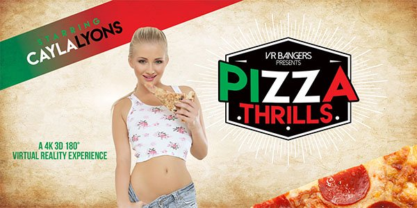 Pizza Thrills - Horny Czech Teen Cayla Lyons Fuck VR
