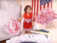 Cheerleader Pussy DDFNetworkVR Melody Petite vr porn video vrporn.com virtual reality