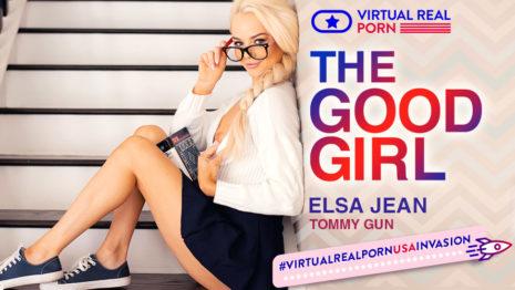 The Good Girl - Teenager Blonde Elsa Jean's Wet Vagina