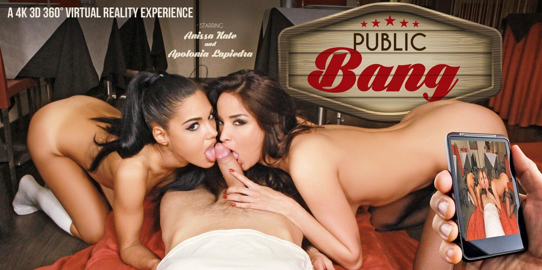 Public Bang - Wild Brunettes Anissa Kate & Apolonia De Piedra
