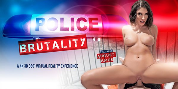 Police Brutality - Canadian Busty Babe August Ames Hardcore