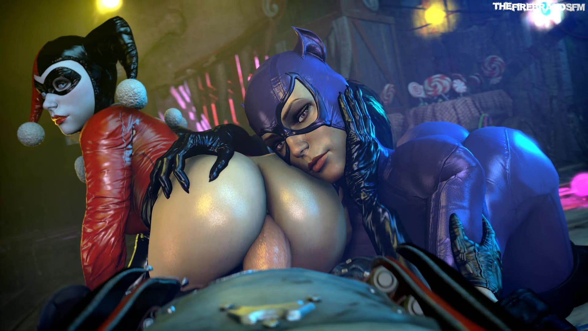 DC Comics - Harley And Catwoman At The Playground darkdreams vr porn video vrporn.com virtual reality