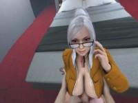 Meiko Shiraki Titty Fuck -Prison School Laosduude vr porn video vrporn.com virtual reality
