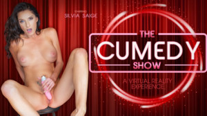 The Cumedy Show VR Bangers Silvia Saige vr porn video vrporn.com virtual reality