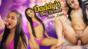 Daddy's Day Dream VRLatina Lucia Lupa vr porn video vrporn.com virtual reality