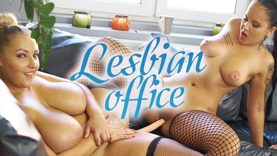 Lesbian Office - Huge Tits BBW