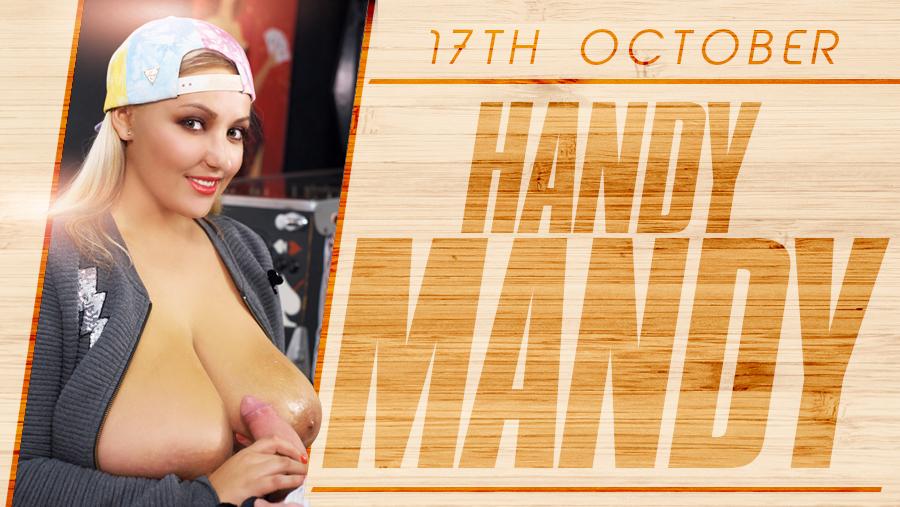 Handy Mandy - Huge Boob Blonde
