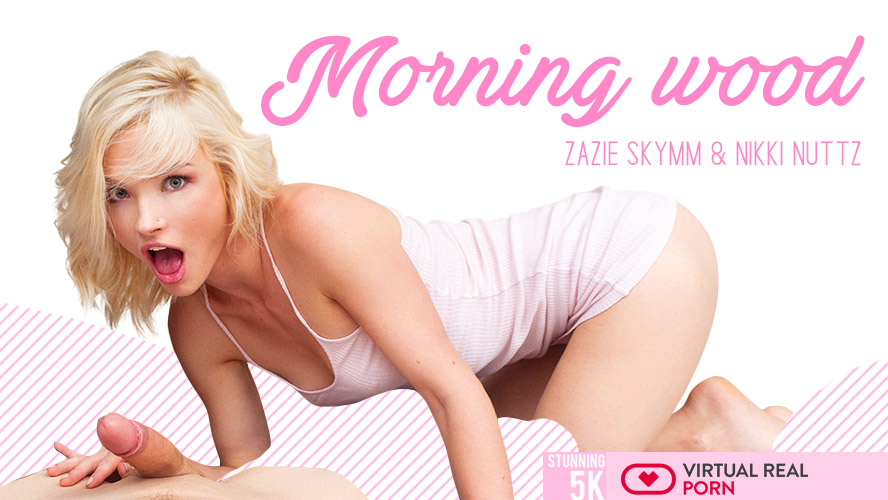 Morning Wood - Cute Blonde Does Anal